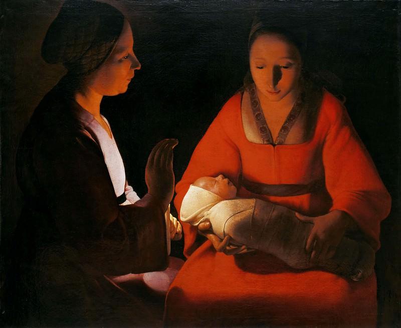 Новорожденный (Рождество). Жорж де Латур