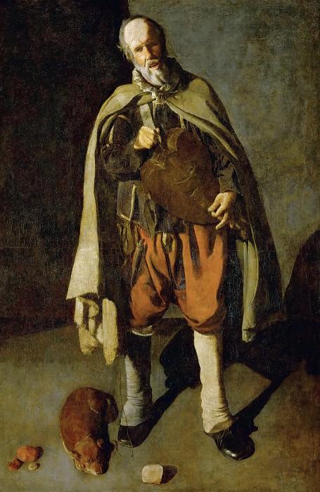 Лирник с собакой. Жорж де Латур