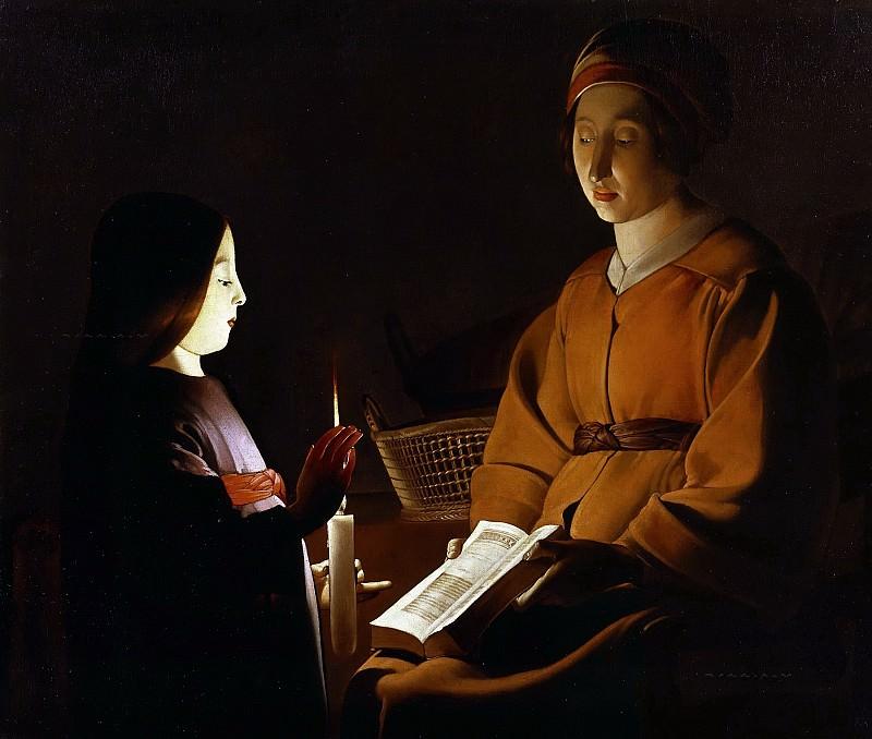 Education of the Virgin. Georges de La Tour (attr)