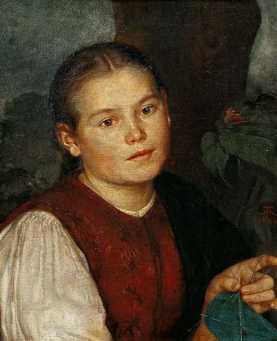 Портрет сестры художника Агаты. Ганс Тома