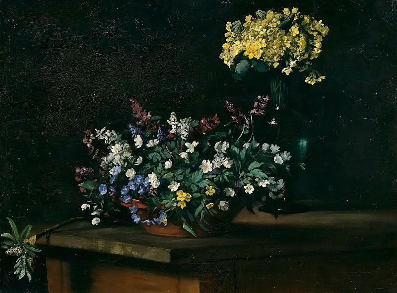 Spring Flowers. Hans Thoma