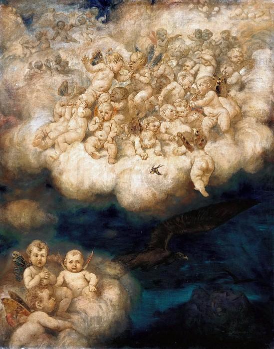 Cloud of Angels. Hans Thoma