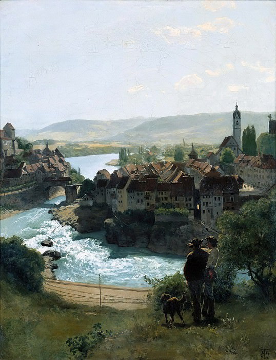 The Rhein at Laufenburg. Hans Thoma