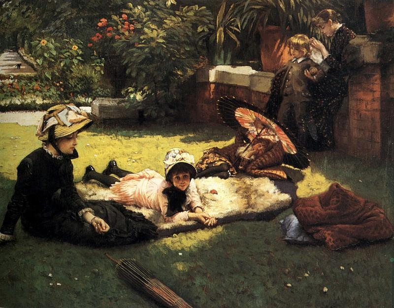 In the Sunshine. Jacques Joseph Tissot