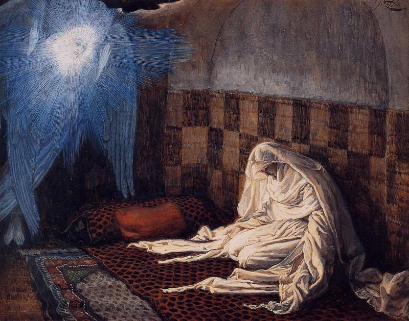 Tissot The Annunciation. Jacques Joseph Tissot