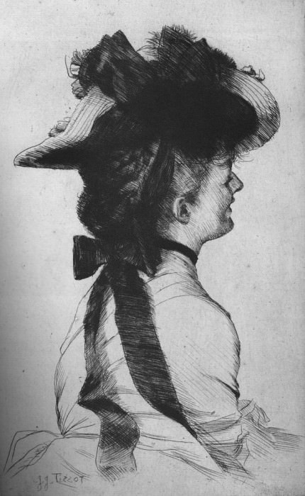 Tissot Le chapeau Rubens. Джеймс Тиссо