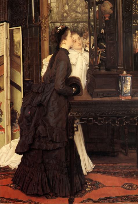 Young Ladies Looking at Japanese Objects. Jacques Joseph Tissot
