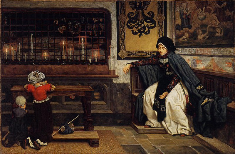 Tissot Marguerite in Church. Jacques Joseph Tissot
