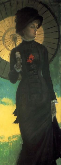 Mrs Newton with a Parasol. Jacques Joseph Tissot