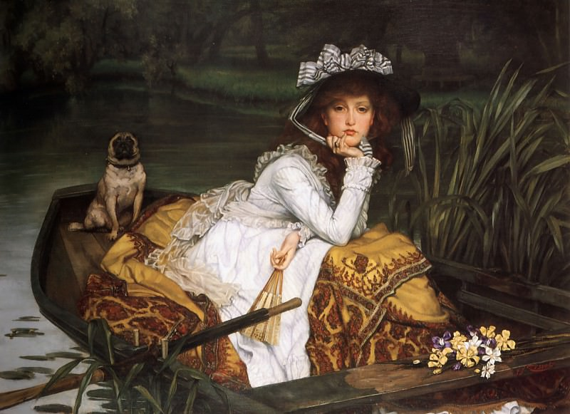 Young Lady in a Boat. Jacques Joseph Tissot