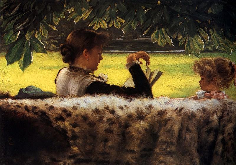 Reading a Story. Jacques Joseph Tissot