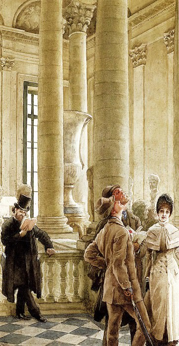 Tissot James Jacques Joseph Au Louvre. Jacques Joseph Tissot