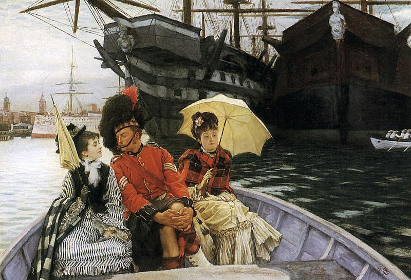 Portsmouth Dockyard. Jacques Joseph Tissot