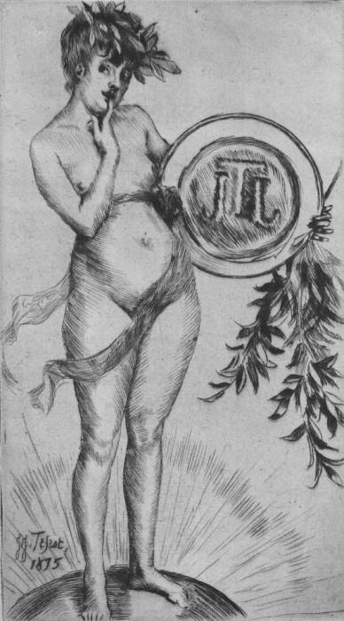 Tissot Premier frontispiece avec le monogramme. Jacques Joseph Tissot