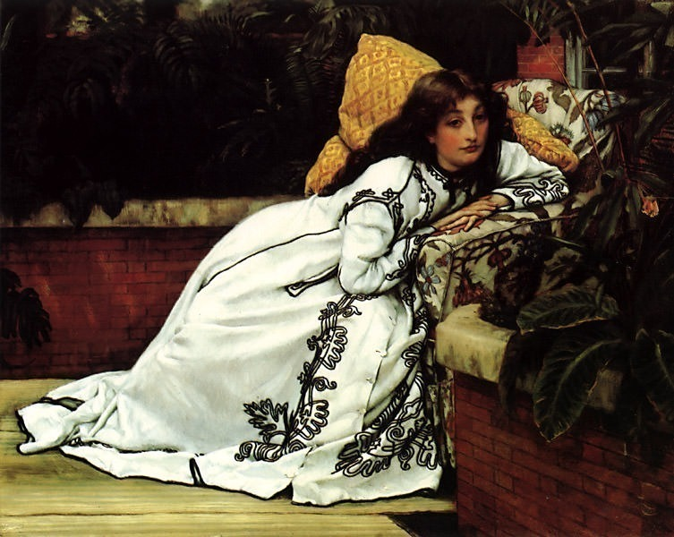 ger-Tissot-AGirlInAnArmchair. Jacques Joseph Tissot