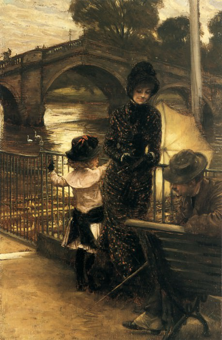By the Thames at Richmond. Jacques Joseph Tissot