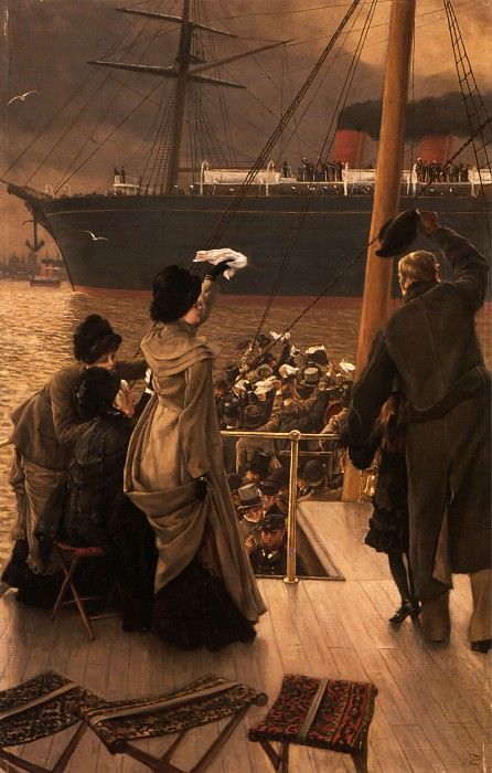 Goodbye on the Mersey. Jacques Joseph Tissot