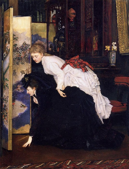 Tissot James Jacques Young Women Looking at Japanese Objects2. Jacques Joseph Tissot