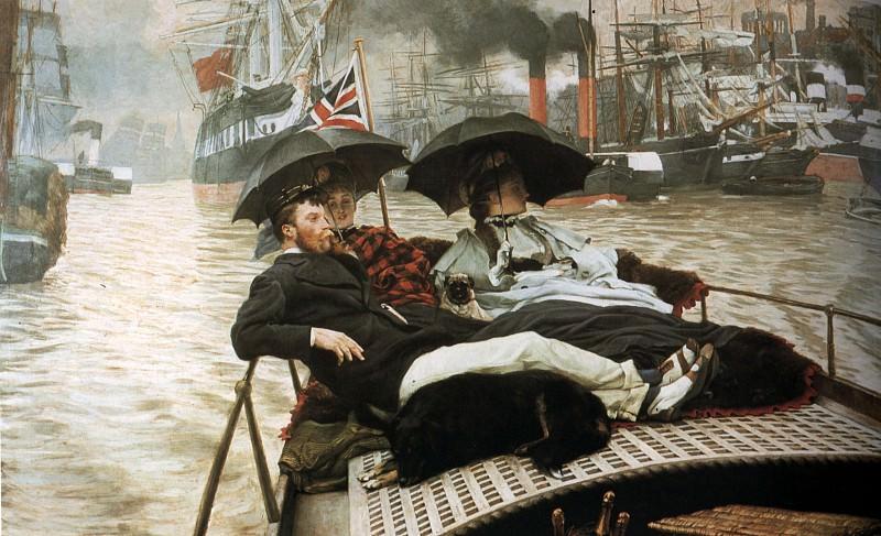 The Thames. Jacques Joseph Tissot
