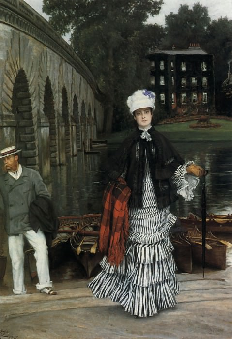 The Return from the Boating Trip. Jacques Joseph Tissot