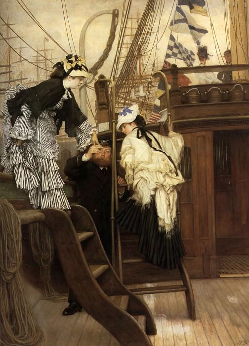 Boarding the Yacht. Jacques Joseph Tissot