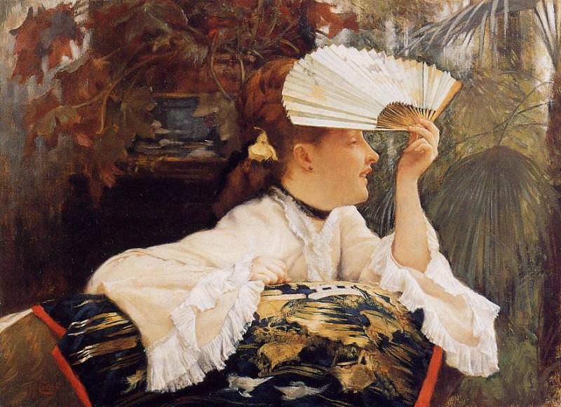 Tissot James Jacques The Fan. Jacques Joseph Tissot