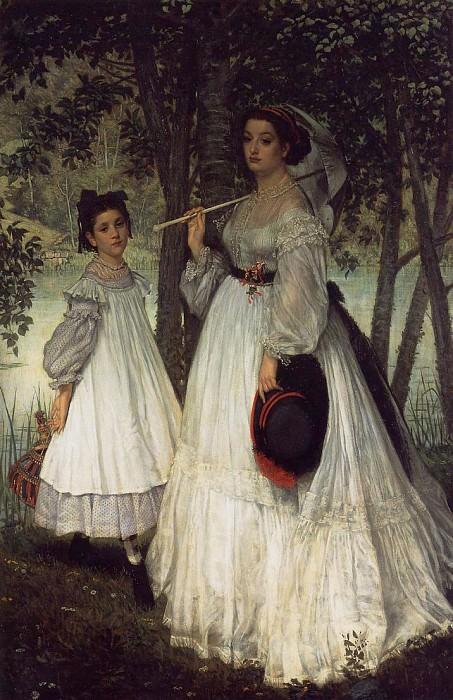 Tissot The Two Sisters; Portrait. Jacques Joseph Tissot