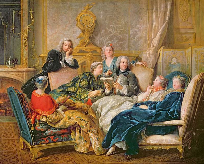 The Reading from Moliere. Jean Francois De Troy