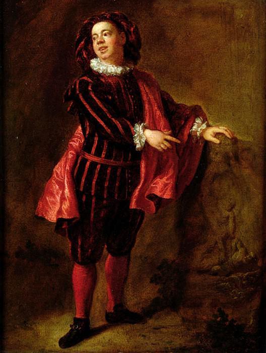 Angelo Constantini (1655-1730) in the Role of Mezzetin. Jean Francois De Troy