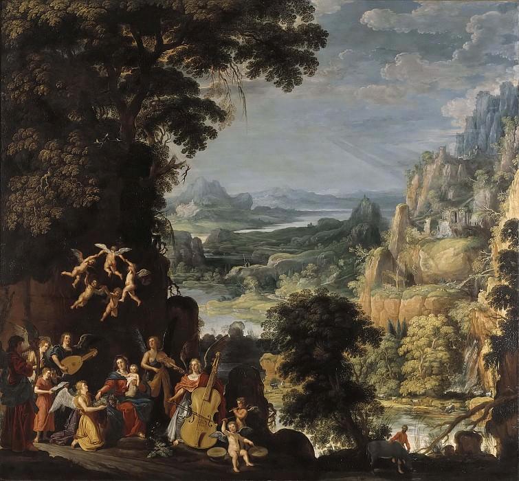 Landscape with the flight into Egypt. David Teniers the Elder