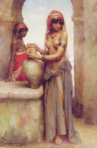 At the well. Henri Adriene Tanoux