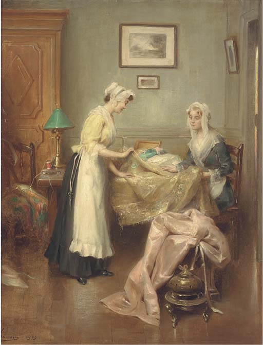 A meeting with the dressmaker. Henri Adriene Tanoux