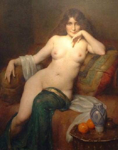 Le repos du modele. Henri Adriene Tanoux