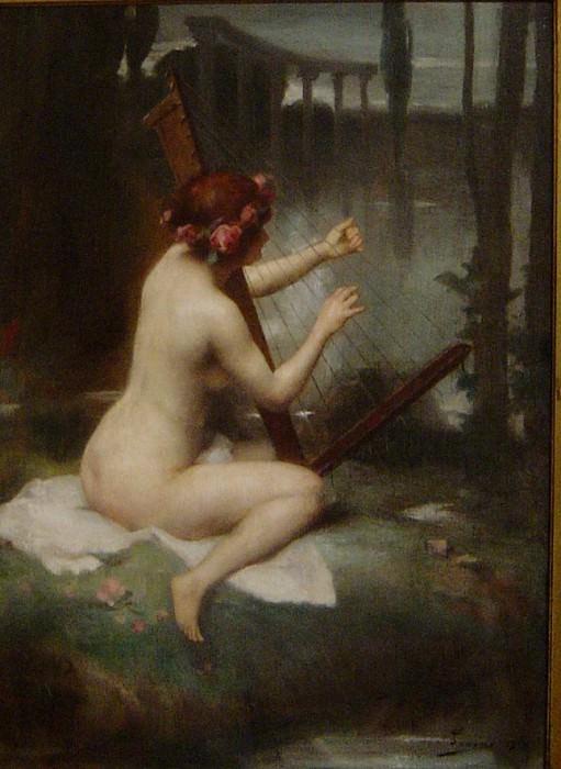 Арфистка. Henri Adriene Tanoux