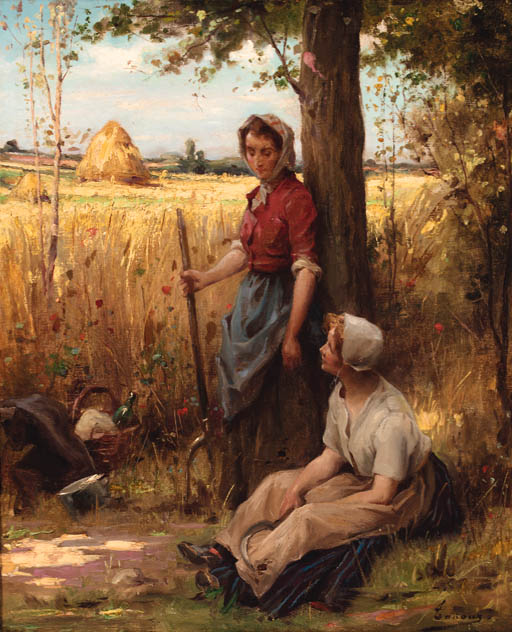 A rest from the harvest. Henri Adriene Tanoux