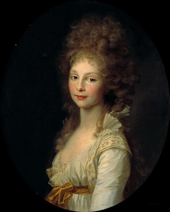 Princess Friederike of Prussia. Johann Friedrich August Tischbein