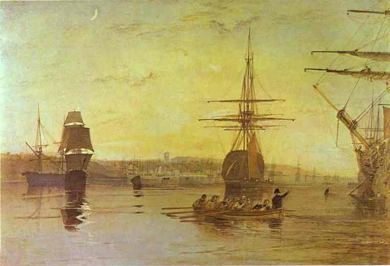 William Turner - Cowes, Isle of Wight. Joseph Mallord William Turner