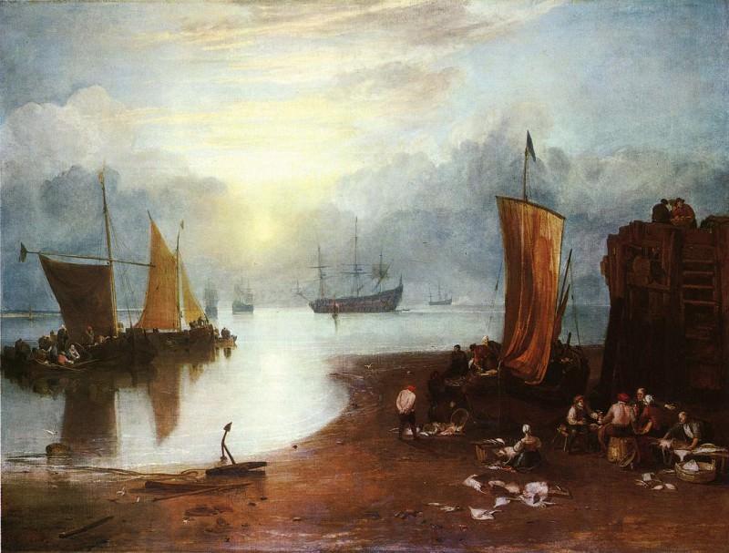 Turner Joseph Mallord William Sun Rising through Vagour Fishermen Cleaning and Sellilng Fish. Joseph Mallord William Turner