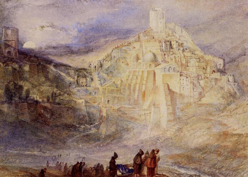Turner Joseph Mallord William Santa Sabes and the Brook Kedron. Joseph Mallord William Turner