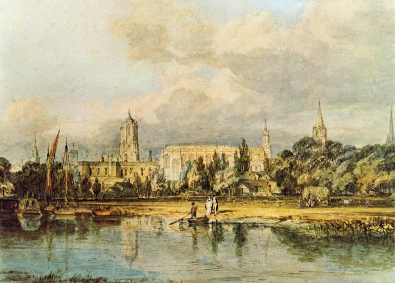 Turner Joseph Mallord William South View of Christ Church etc. from the Meadows. Joseph Mallord William Turner