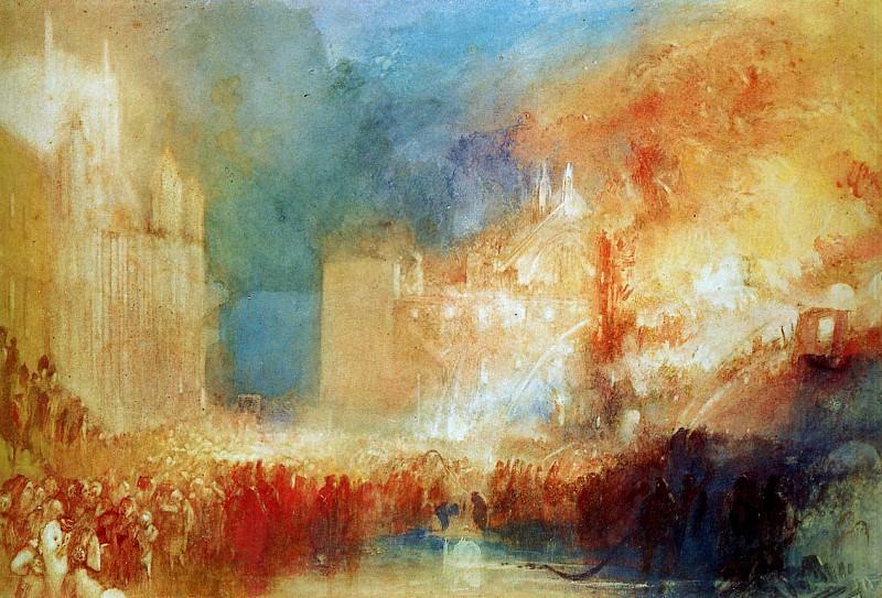 Turner Joseph The fire in the house of Parliament Sun. Joseph Mallord William Turner