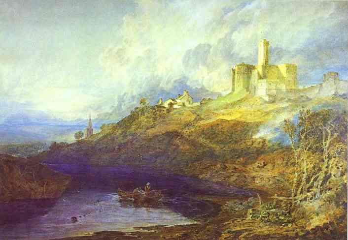 William Turner - Warkworth Castle, Northumberlan. Joseph Mallord William Turner