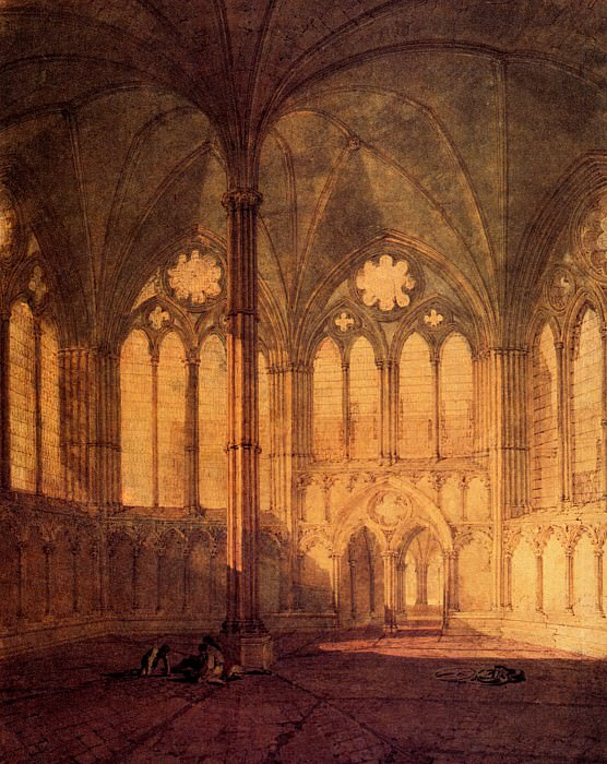 Turner Joseph Mallord William The Chapter House Salisbury Cathedral. Joseph Mallord William Turner