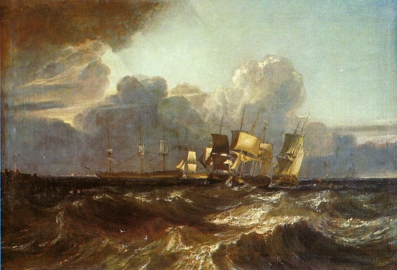 Turner Joseph Mallord William Ships Bearing Up for Anchorage aka The Egremont sea Piece. Joseph Mallord William Turner