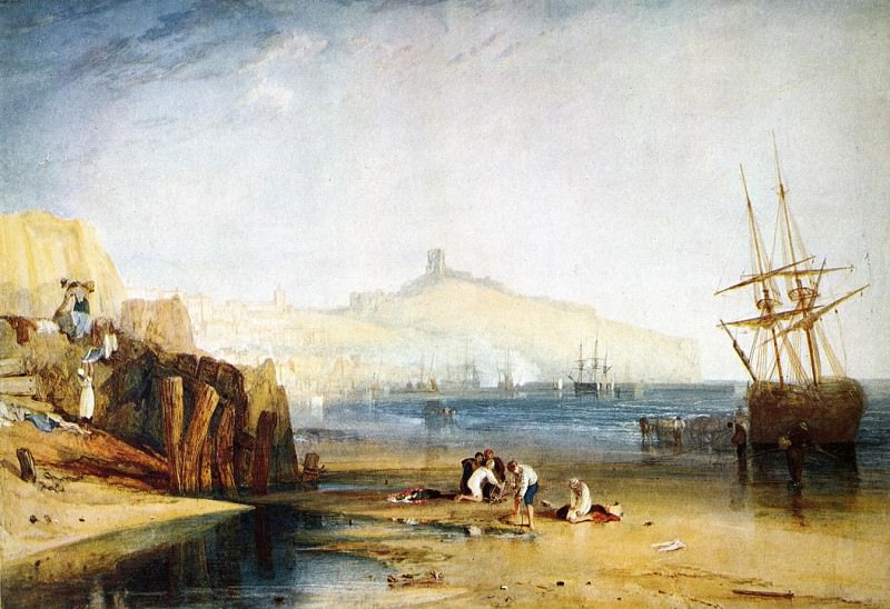 Turner Joseph Mallord William Scarborough Town and Castle Morning Boys Catching Crabs. Joseph Mallord William Turner