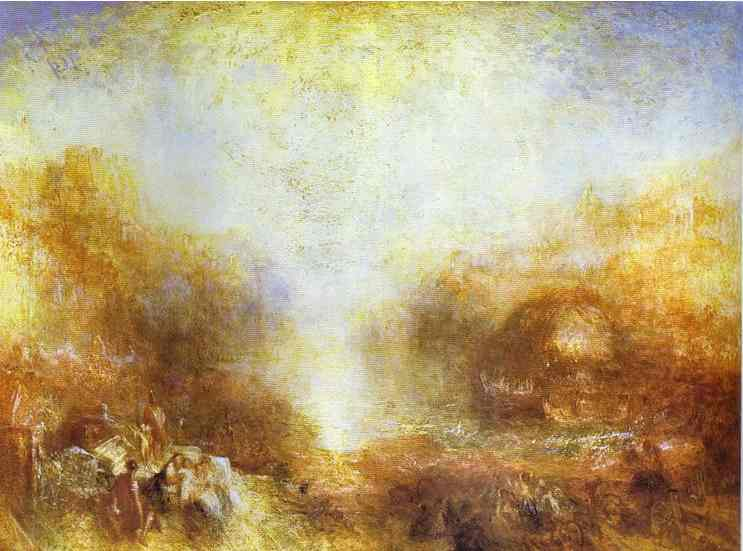 William Turner - Mercury Sent to Admonish Aeneas. Joseph Mallord William Turner