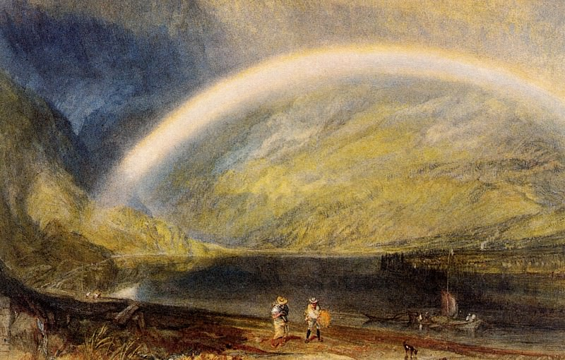 Turner Joseph Mallord William Rainbow. A view on the Rhine from Dunkholder Vineyard of Osterspey. Joseph Mallord William Turner