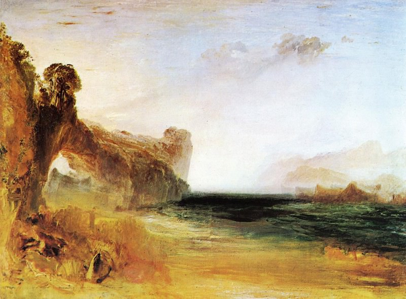 Turner Joseph Mallord William Rocky Bay with Figures. Joseph Mallord William Turner