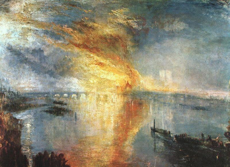 Turner Joseph The Burning of the Houses of Parliament. Joseph Mallord William Turner