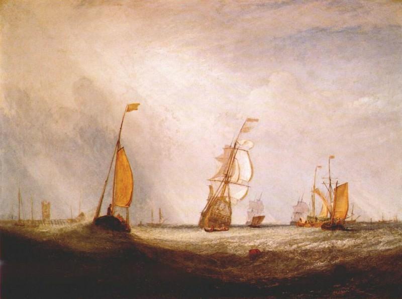 turner helvoetsluys (the city of utrecht, 64, going to sea) 1832. Joseph Mallord William Turner